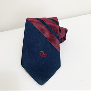 Christian Dior men's red blue tie
